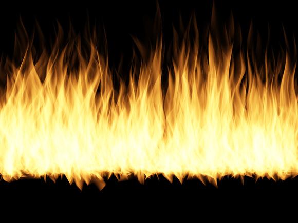 燃え盛る炎