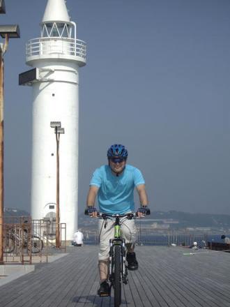 江ノ島灯台にて