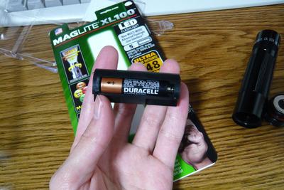 電池を入れた