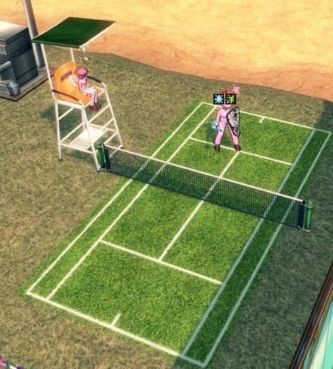 一人テニス
