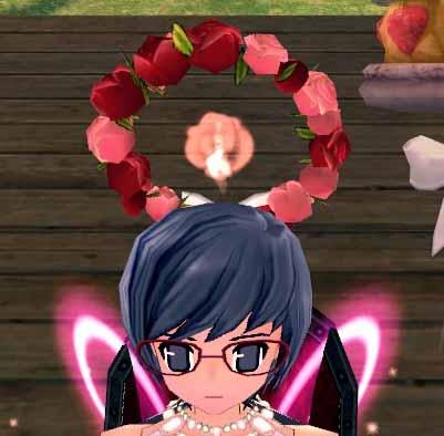 赤きバラの冠ヘイロー…