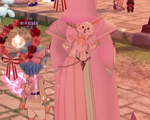 ピンクに染まった