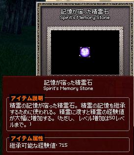 記憶が宿った精霊石