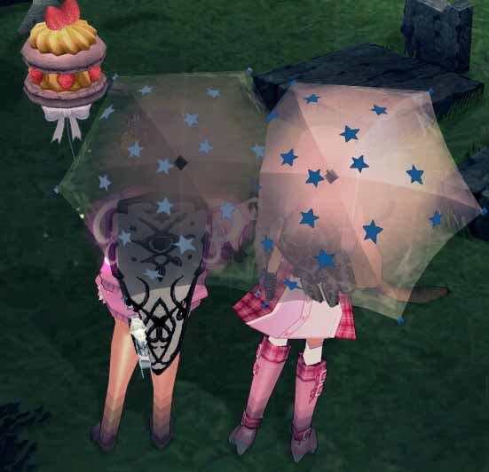 傘の大きさが変わる…?