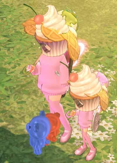甘いカップケーキ帽子ω