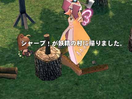 シャープ!が妖精の森に帰りました。