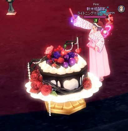 でかいチョコレートケーキ