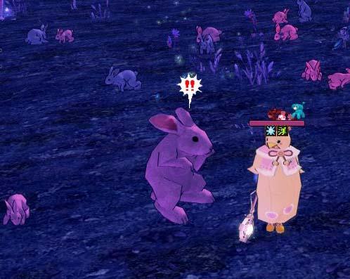 突然変異したウサギ