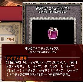 妖精のミニチュアボックス