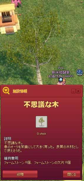 不思議な木から収穫