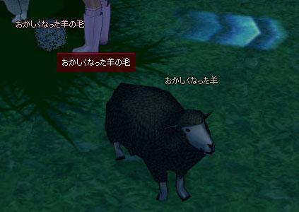 おかしくなった羊の毛