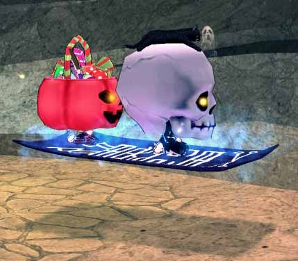 ベビーキョンシーと大きなスケルトンローブ