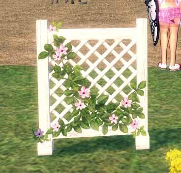 つる飾りの木製ヘェンス
