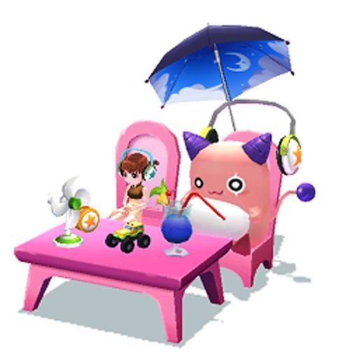 ピンクビーン椅子