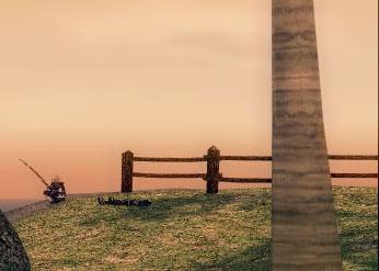 ケアン港の柵