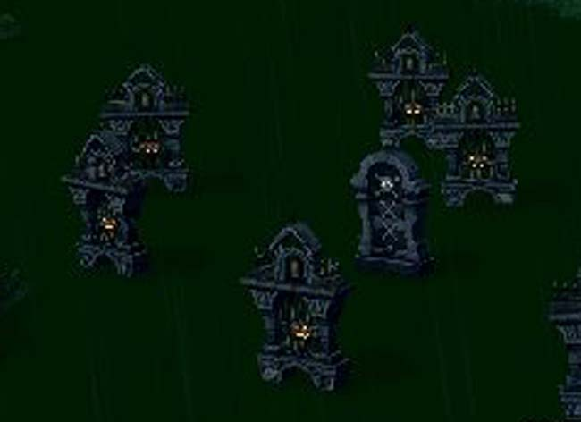 雨の共同墓地