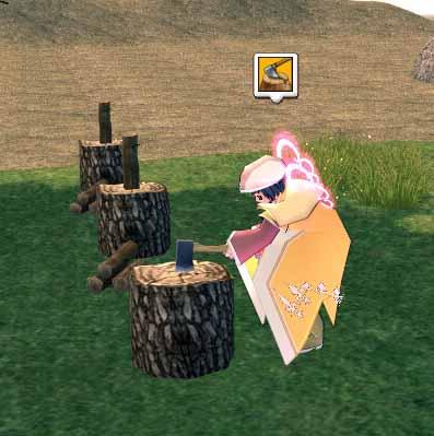 木工(薪割り)