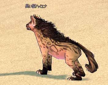 長い鬣ハイエナ