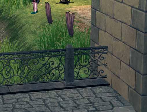 金属っぽい柵