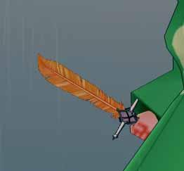 神秘なフェニックスの羽根剣