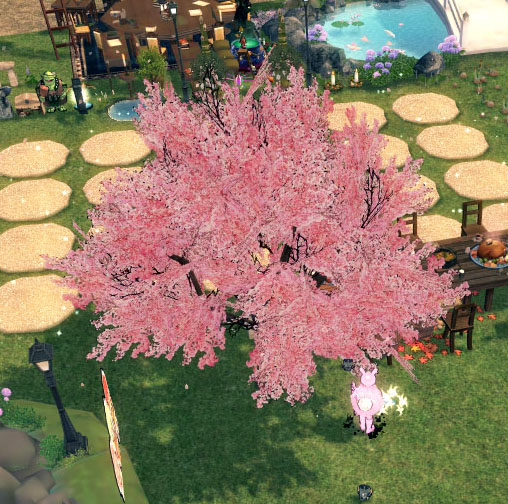 華やかなちくらの木
