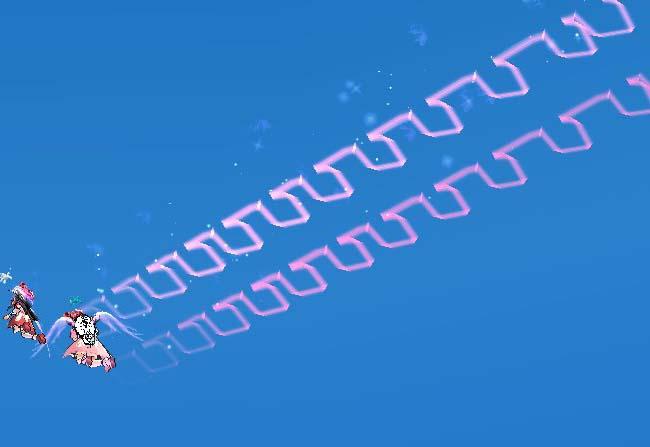 ムーンライト飛行の軌跡