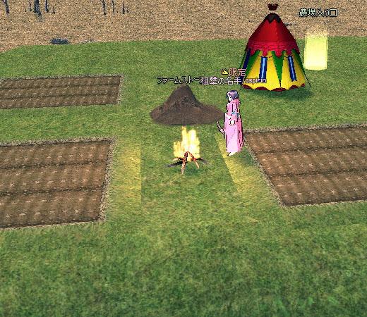 浪漫農場でキャンプファイア