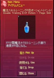 魔法スキルレーニング2倍ポーション