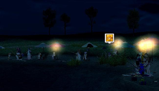 夜のネア湖