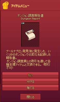 ダンジョン調査報告書