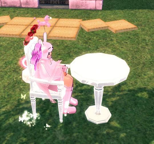 雪花テーブルと椅子