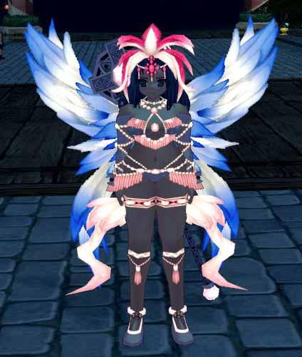 サンバカーニバルの羽根付き翼
