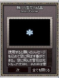 願いの雪花の結晶