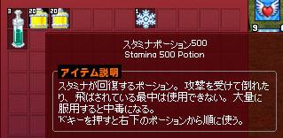 スタミナポーション500…