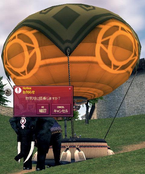 熱気球に搭乗しますか?