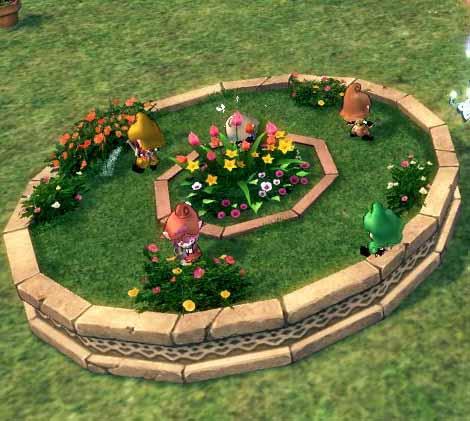 幼虫の花壇