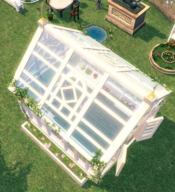 木製の温室屋根