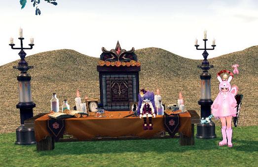 ハロウィン人形工房の祭壇