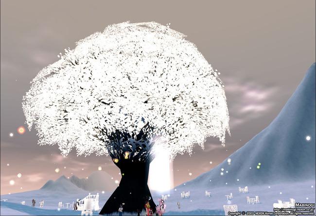 光るツリー