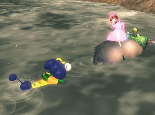 水遊びww