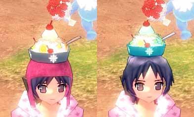 かき氷帽子との比較