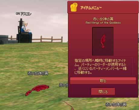 赤い女神の翼