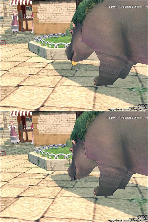 カバに食べられるヒヨコ