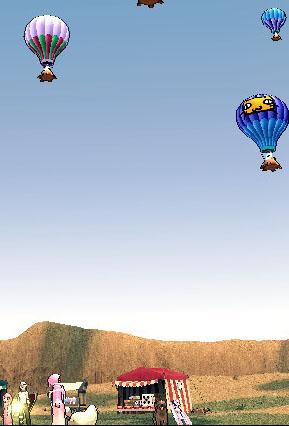 謎の熱気球