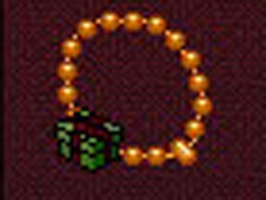 どう見ても数珠です。