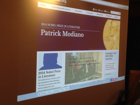2014年ノーベル文学賞発表の瞬間