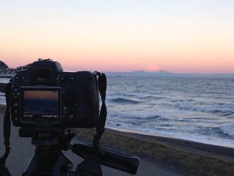 カメラと富士山