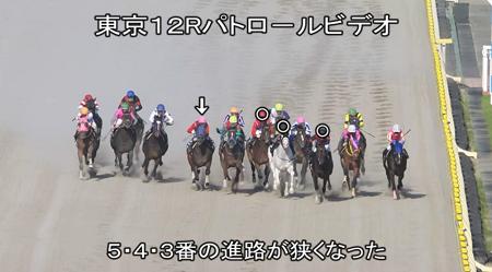 日曜日 東京12R 直線の審議