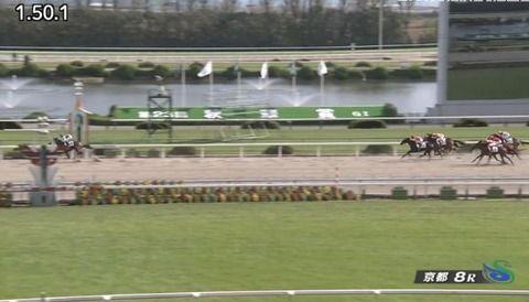 【競馬】京都8R 武豊騎乗のインティが持ったまま10馬身差の圧勝