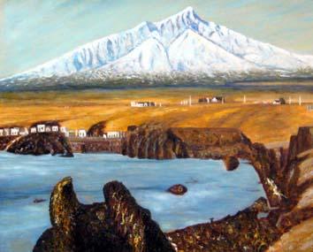 赤松・冬の利尻島